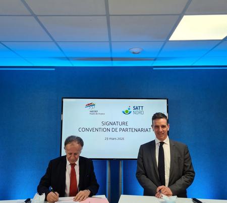 Patrice Pennel, Président du MEDEF Hauts-de-France, et Fabrice Lefevre, Président de la SATT Nord